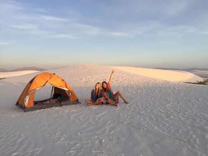 backcountry camping White Sands New Mexico