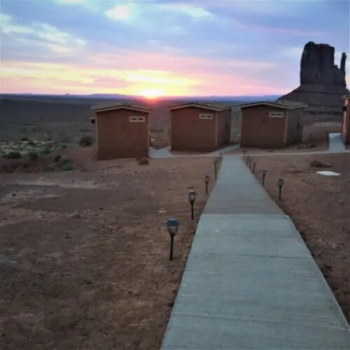 Our cabin at the View hotel Monument Valley