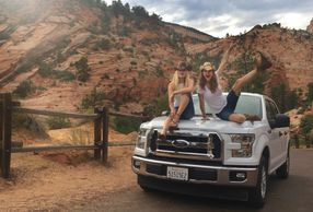 Road trip chicks at zion national park