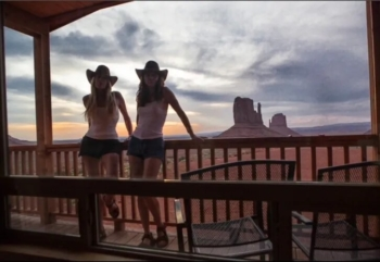 Our cabin porch at Monument Valley
