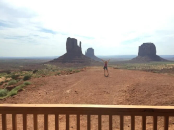 """Our """"backyard"""" - outside our cabin at the View hotel Monument Valley"""