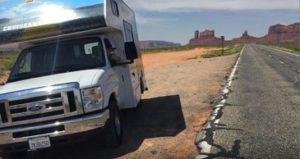 Cruise America at Monument Valley Utah